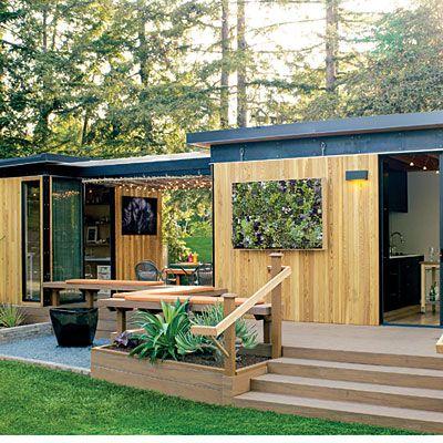 Modern minimalistisch Wohnsiedlung Gartenhaus Gästehaus