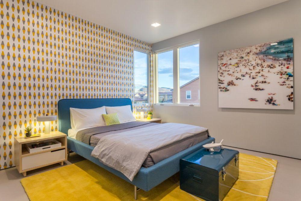 Mutig Farbkombination Schlafzimmer blau gelb Symbolik