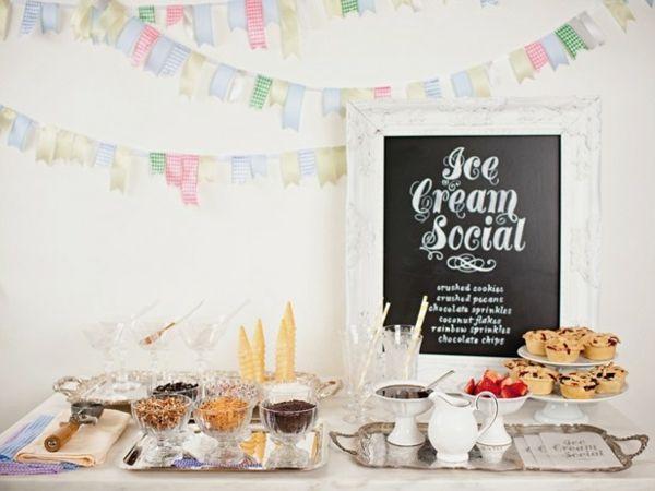 Partythema Eissorten Buffet Junggesellinnenabschied