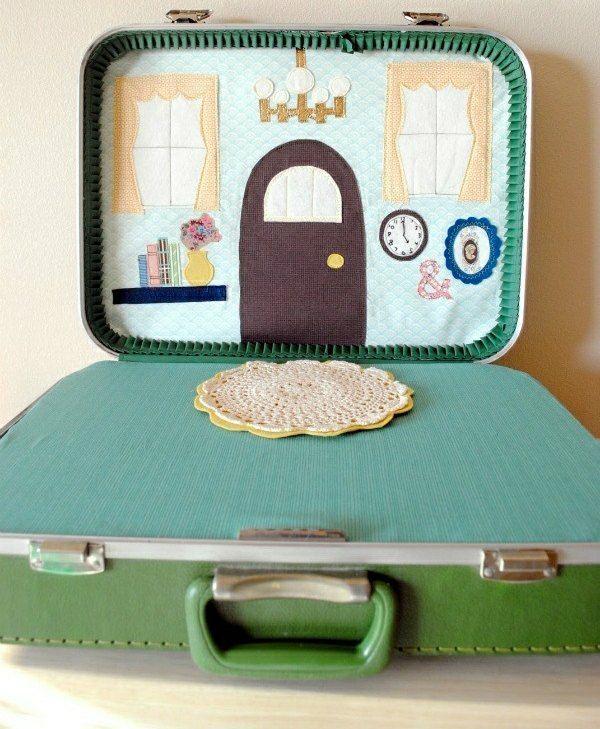 Puppenhaus fürs Kinderzimmer in einem alten Koffer selber bauen