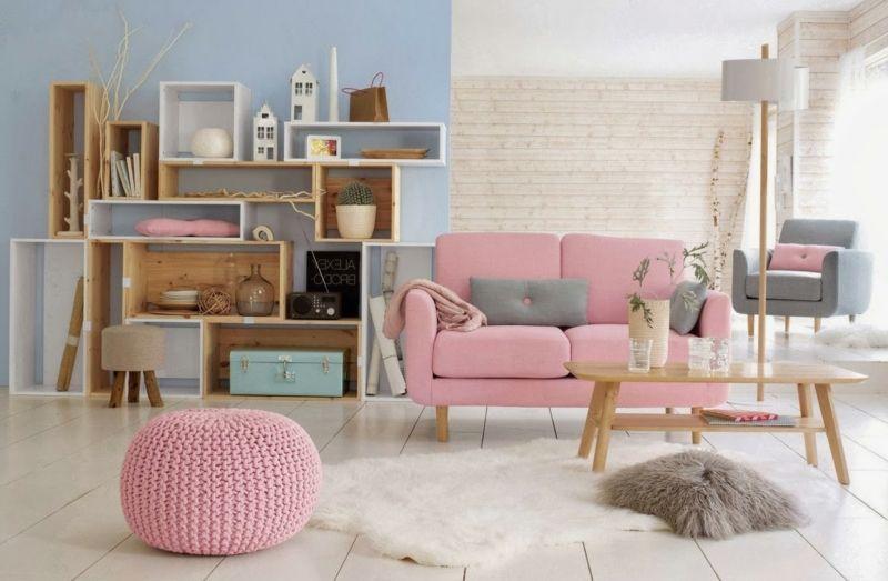 chestha.com | idee wohnzimmer rosa - Rosa Wohnzimmer Deko