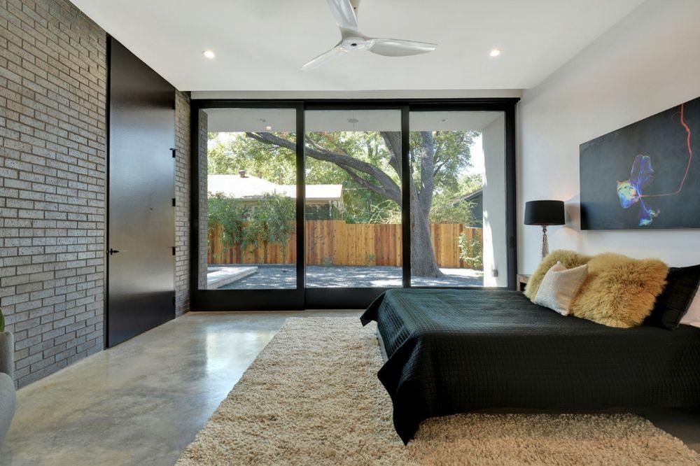 Schlafzimmer Gestaltung beige schwarz hellbraun