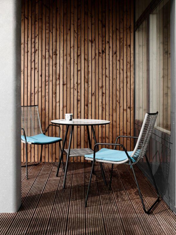 Schlicht platzsparend puristisch Balkon Möbel-Set