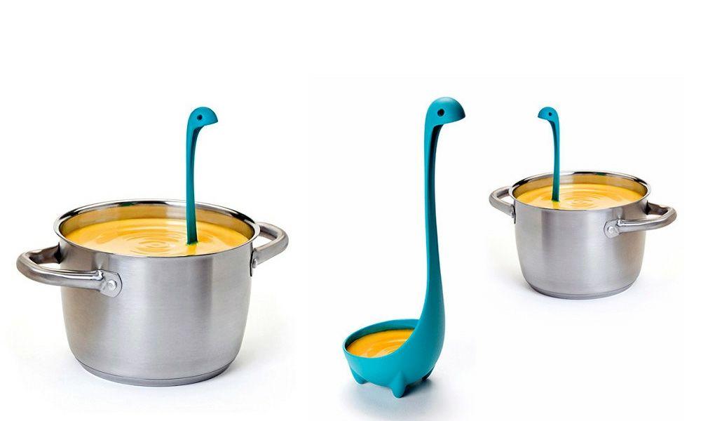 Suppenkelle Nessie türkis ausgefallen kreativ