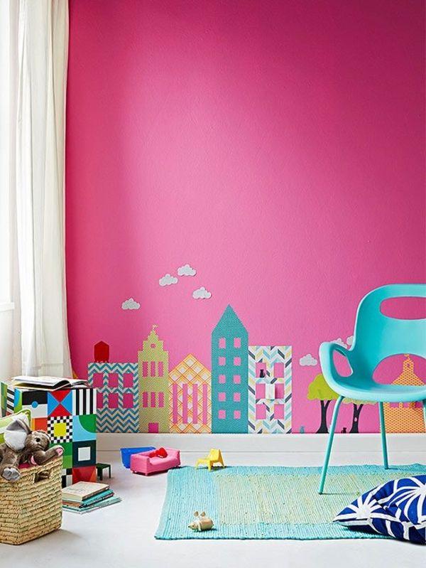 Wandaufkleber Häuschen Fassaden farbenfroh