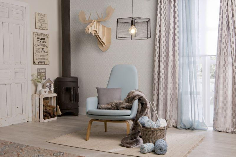 Warme und freundliche Farben für das Wohnzimmer
