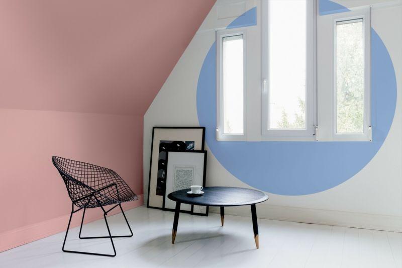Wohnzimmer mit Baby-Farben dekorieren