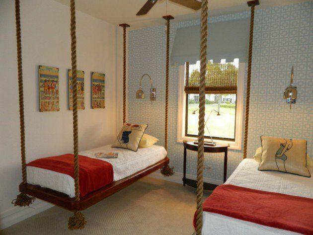 hängendes Bett Seilen Vintage Schlafzimmer Kinderzimmer