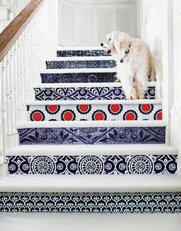 Azulejo-Fliesenkunst für die Treppe
