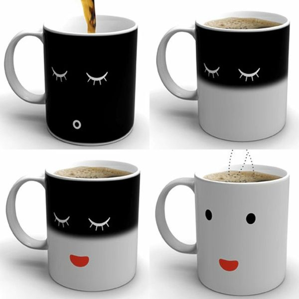 Tasse mit temperaturempfindlichem Farbwechsel