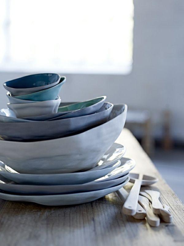 Das Geschirr als Kunstwerk in der Küche