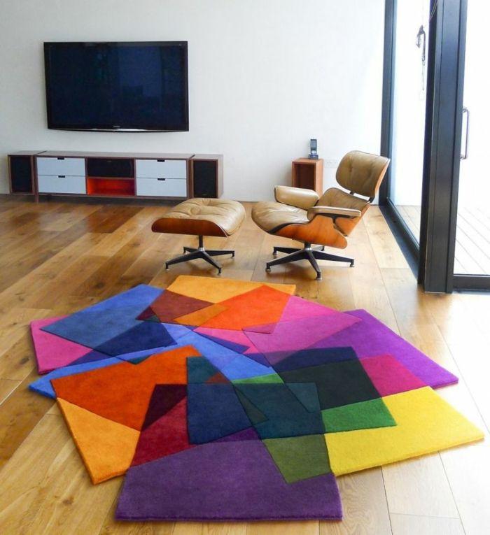 Dieser Teppich beweist, dass viele verschiedene Farben grundsätzlich gut zu einander passen