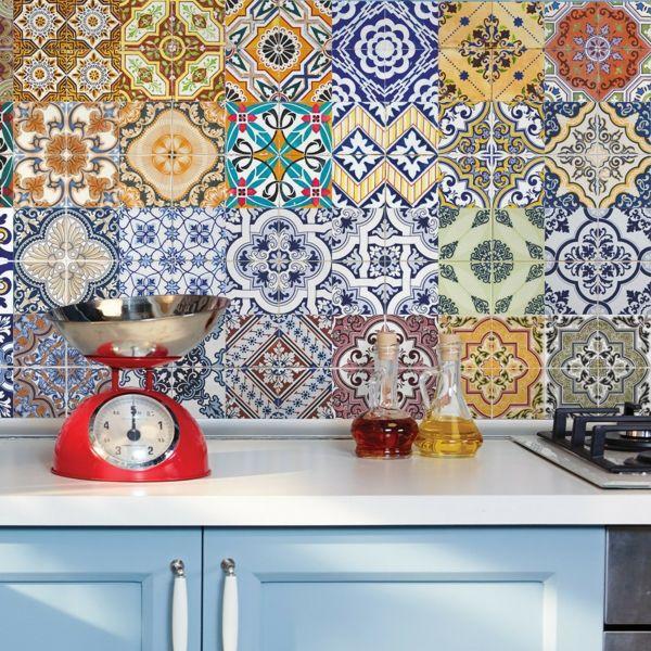 Farbenpracht mit Fleisen in der Küche