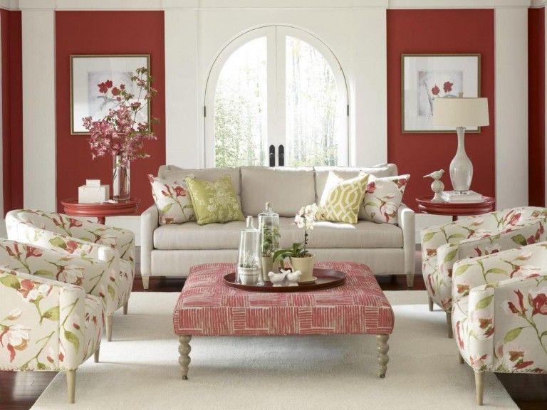 Frühling Dekoideen Innendesign selbstdekorieren Wohnzimmer rot limette champagne