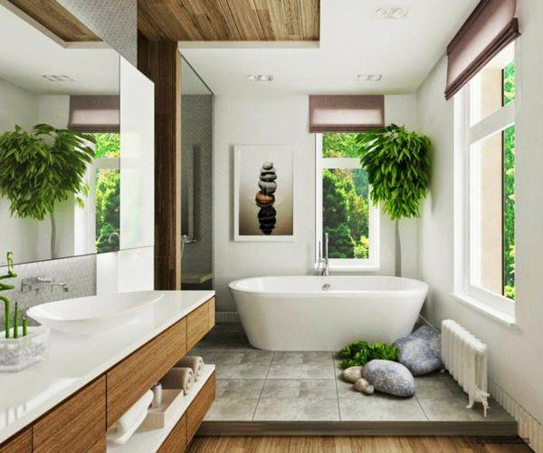 Badezimmer Verschönern Dekoration  Frisches Grün fürs Badezimmer