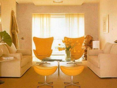 Gelb eignet sie sich hervorragend für das Arbeits- und Wohnzimmer-Elemente in Feng Shui