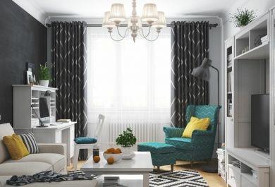 Jugendstil in einer kleinen wohnung schickes interieur im skandinavischen stil - Jugendstil innenarchitektur ...