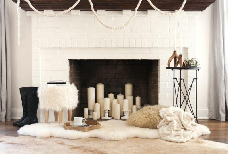 Kerzen stärken das Feuerelement im Wohnraum