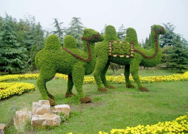 Kunstformen machen den Garten zu etwas Ausgefallenem
