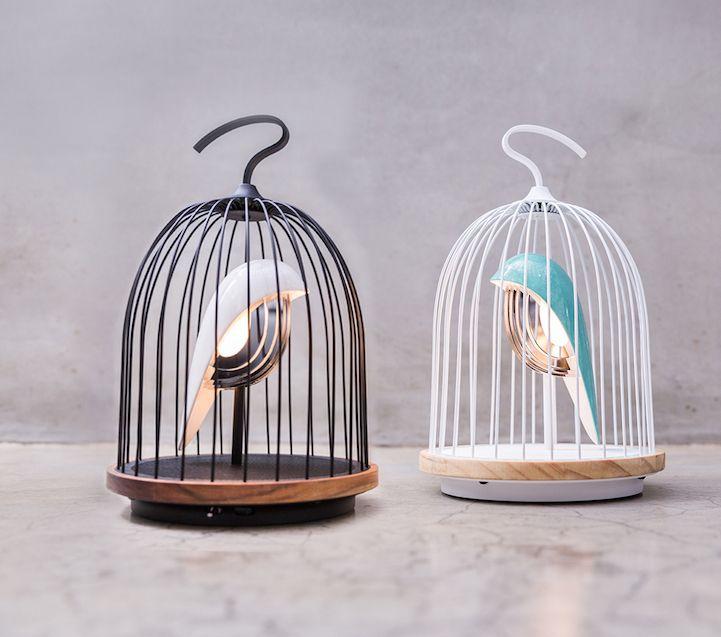 Modern Design Interior vogelformig Lautsprecher Leuchte Licht Akzent Deko