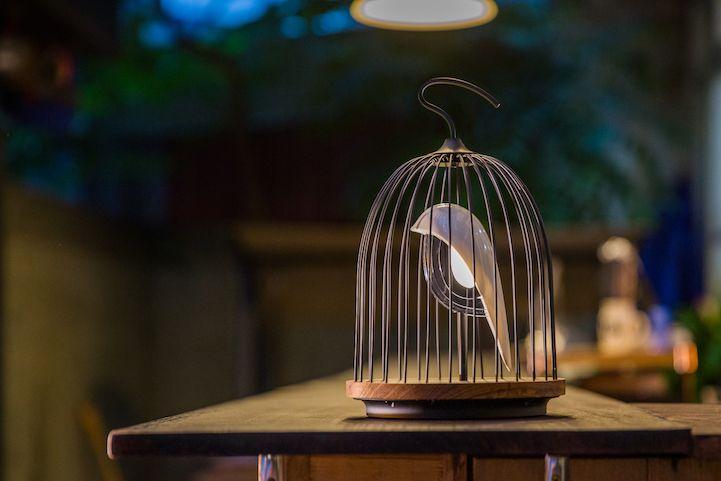 Modern Design Interior vogelformig Lautsprecher Leuchte Licht Ambiente Außeneinrichtung