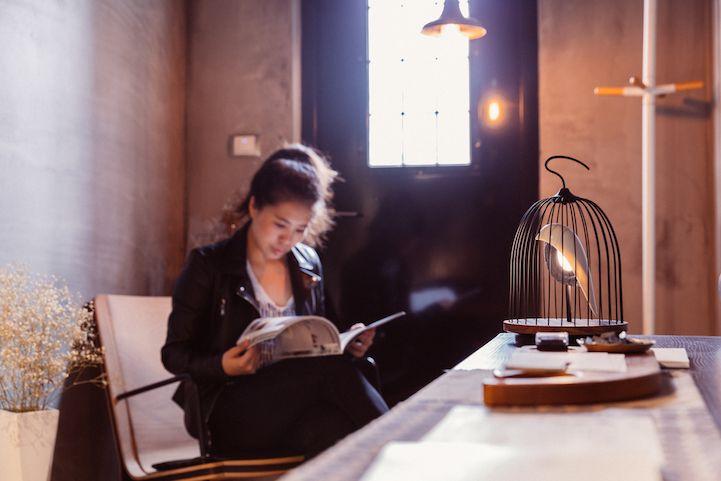 Modern Design Interior vogelformig Lautsprecher Leuchte Licht Büro Atmosphäre