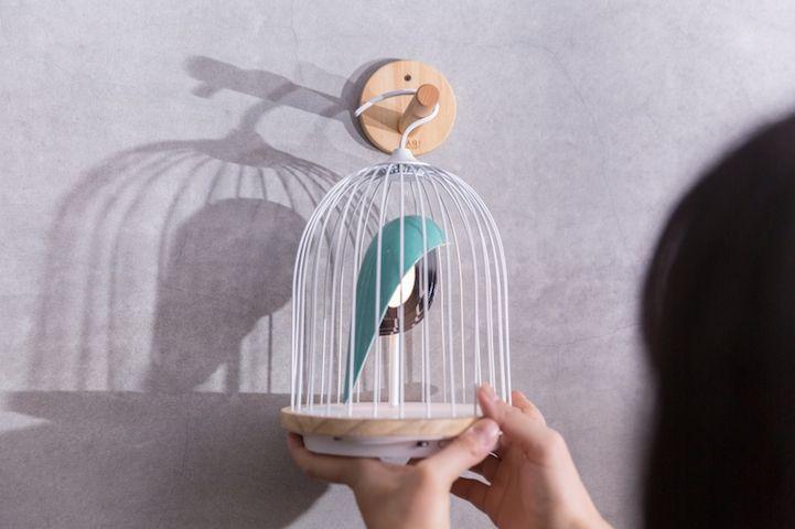 Modern Design Interior vogelformig Lautsprecher Leuchte Licht Dekoration aufhängen