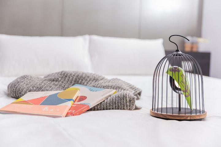 Modern Design Interior vogelformig Lautsprecher Leuchte Licht Schlafzimmer Bücher Relax