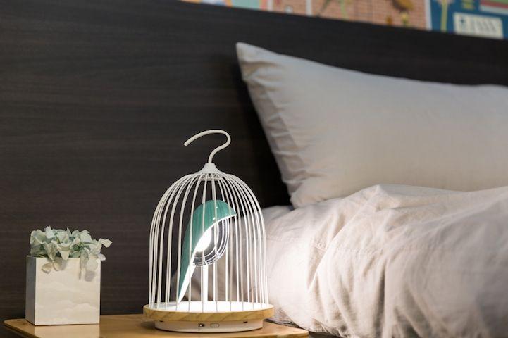 Modern Design Interior vogelformig Lautsprecher Leuchte Licht Schlafzimmer Nachtlampe