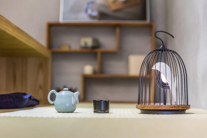Modern Design Interior vogelformig Lautsprecher Leuchte Licht Tee Wohnzimmer