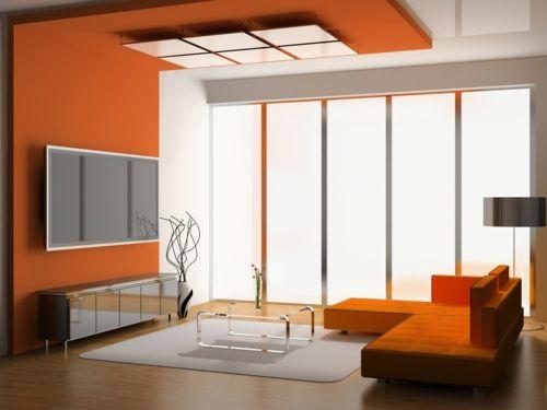 Orange schafft auch in dunklen Bereichen eine entspannte und fröhliche Atmosphäre