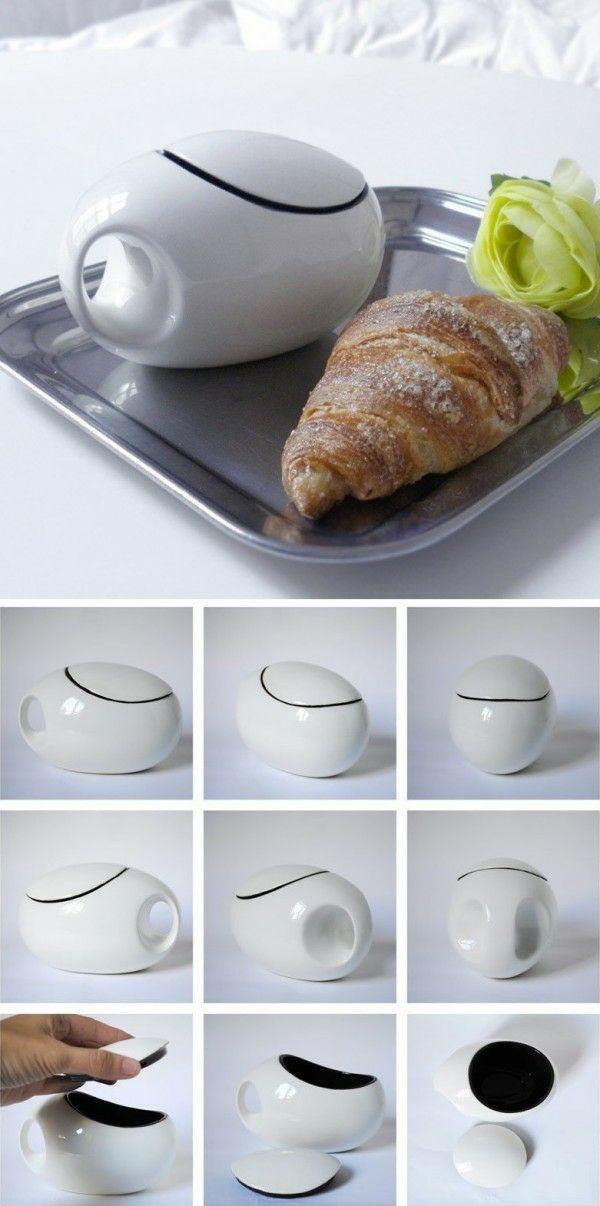 Diese Designer Tasse ist nicht nur elegant, sondern auch effektiv.