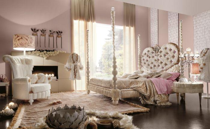 Prachtvolles Schlafzimmer in Nudefarben