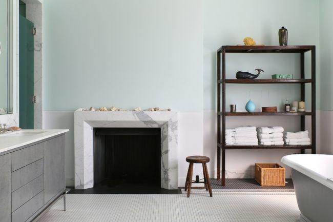 Regalsystem Marmor Hocker Schrank Badezimmer Kamin Korb Design