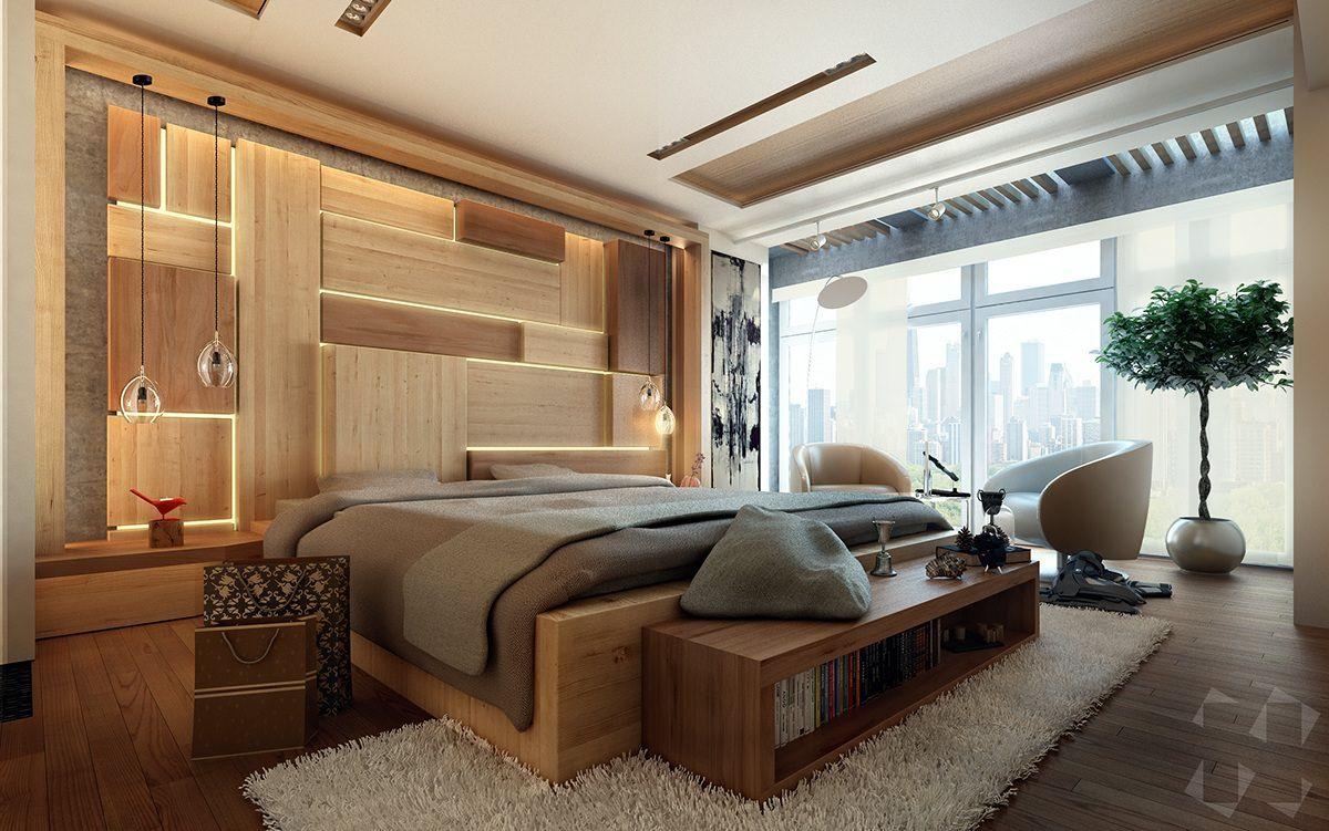 Ein Holzpuzzle voller Licht bringt eine eigenartige Gemütlichkeit ins Zimmer
