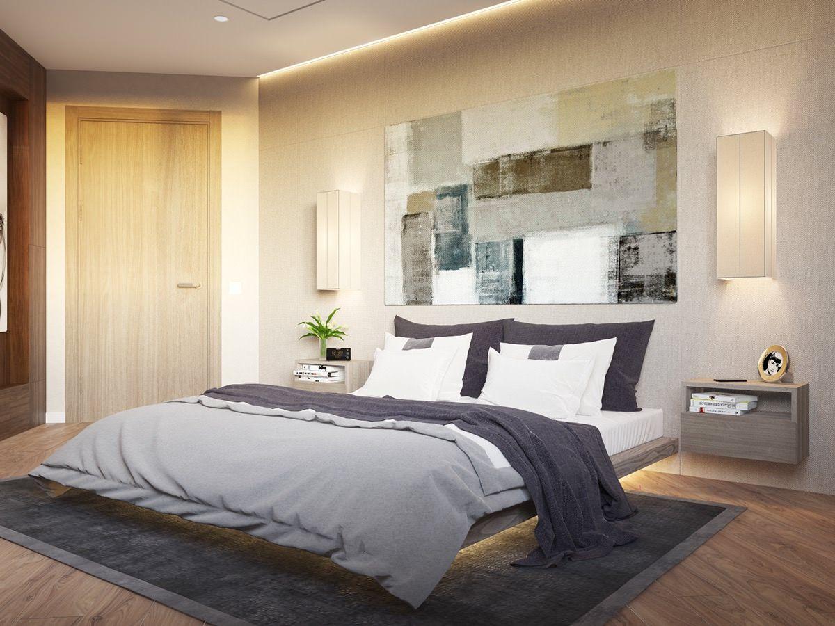 Das Indirekte Licht an der Kante zwischen Decke und Wand