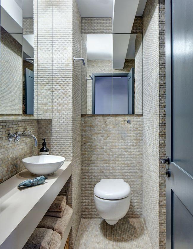 Toilette Spiegeltüren Waschtisch Tücher Bad Keramik Fliesen