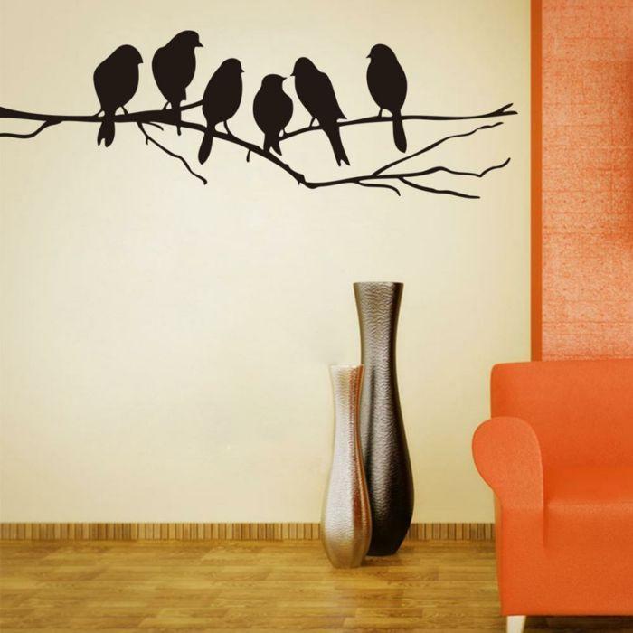 Vögel sind ein schönes Motiv für Wanddekoration-Schöne Vogelaccessoires