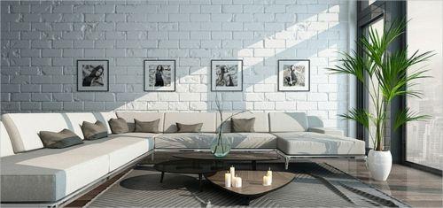 Viel Licht und helle Farben für das Wohnzimmer nach Feng Shui-Elemente in Feng Shui