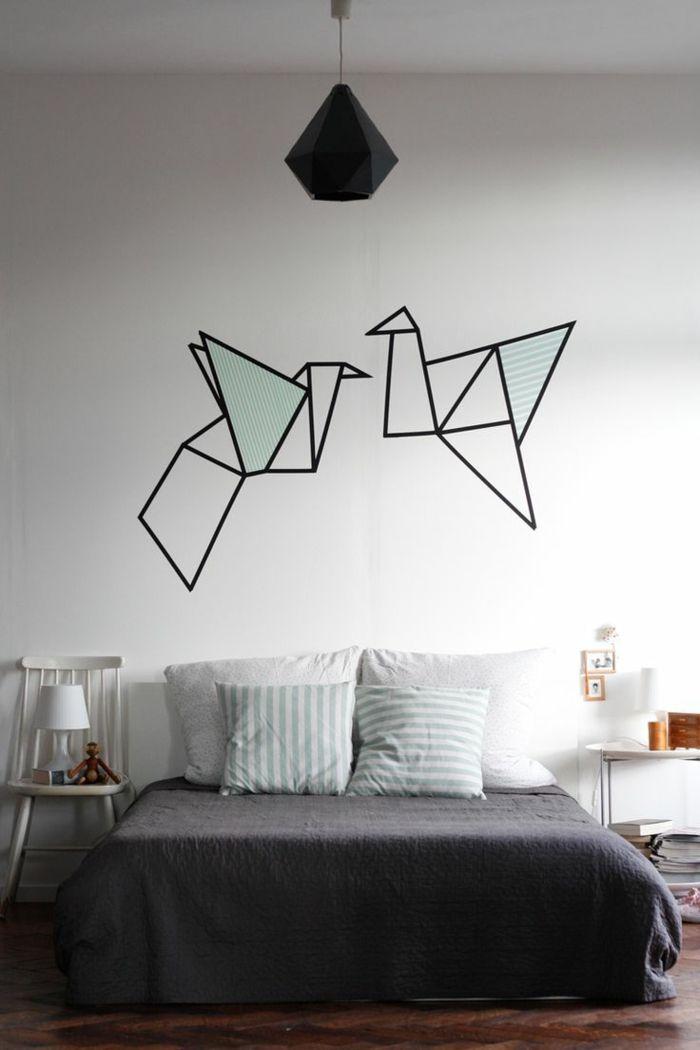 Vogelmotive für die Wanddekoration im Schlafzimmer-Schöne Vogelaccessoires