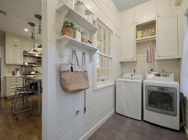 Wäschebeutel Regale Trockner Waschmaschine Waschküche praktisch weiß