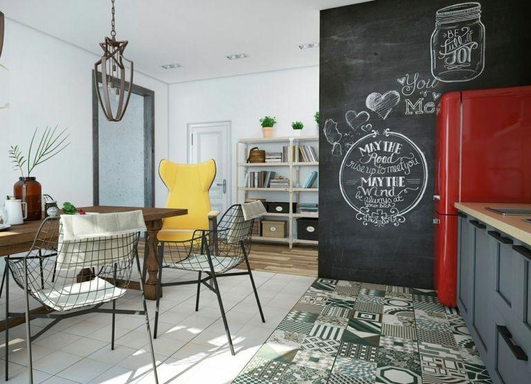 das schwarze kreidebrett in der innenarchitektur gestaltung und anwendung. Black Bedroom Furniture Sets. Home Design Ideas