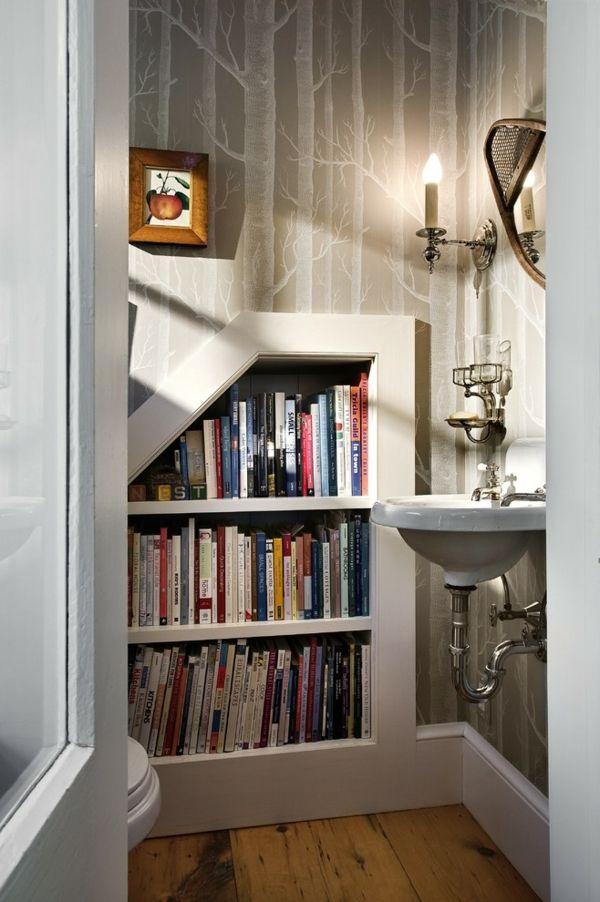 Waschtisch Toilletentisch Waschbecken modern Luxus Einbauregal Bücherregal