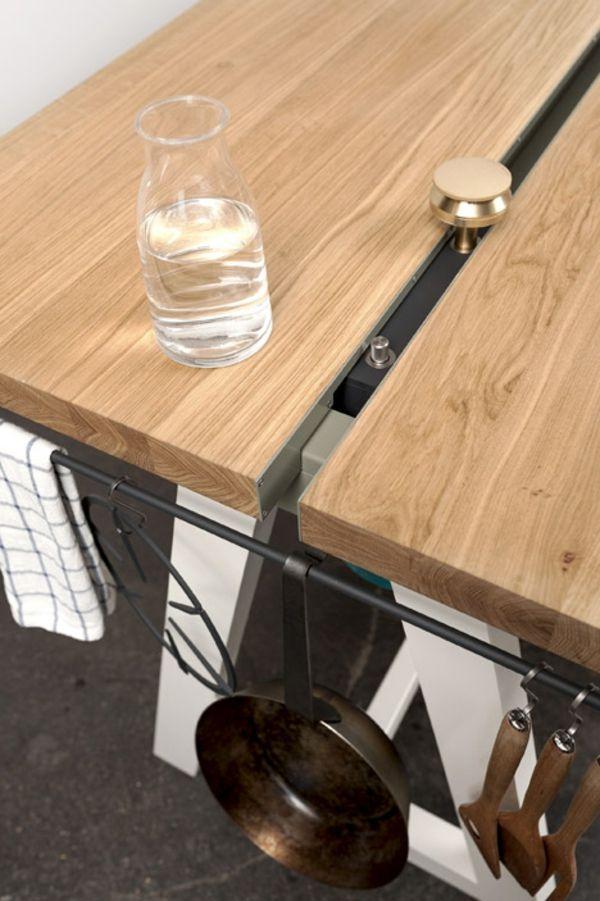 Wohnidee Küche Esstisch Eichenplatte Kochen Moritz Putzier