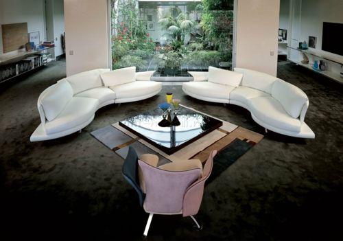 Yin und Yang Energien sind ausgeglichen in diesem Wohnzimmer-Elemente in Feng Shui