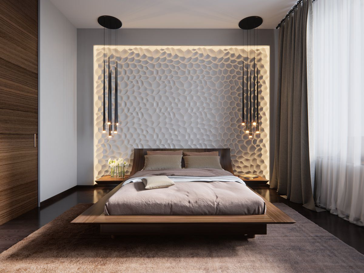 Lieblich Indirekte Beleuchtung Schlafzimmer Reliefwand Ideen