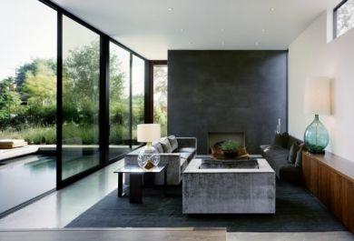 modernes wohnzimmer mit coolen und klaren linien. Black Bedroom Furniture Sets. Home Design Ideas