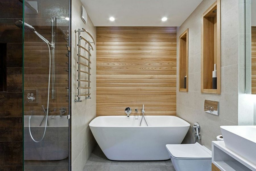 Ein schickes Bad in funktionellem Look
