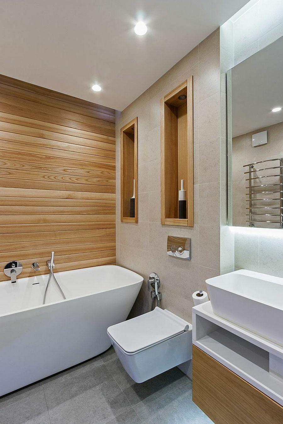 Hängende Möbel und Einrichtungselemente verkleinern visuell den Raum, aber nicht sehr viel