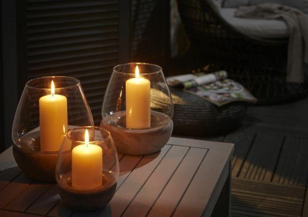 Beleuchtung für die Gartenparty soll indirekt, weich und angenehm sein